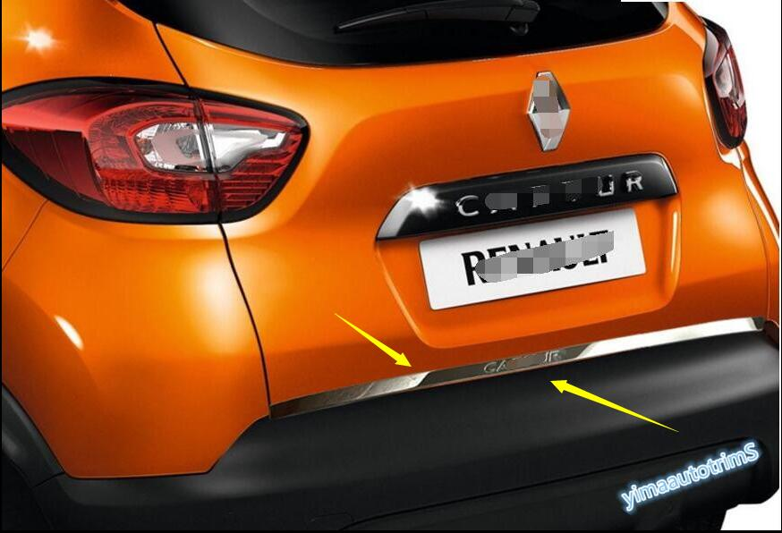 Colourlly For Renault Captur 2014-2016 Rear Tailgate Trunk Lid Molding Trim