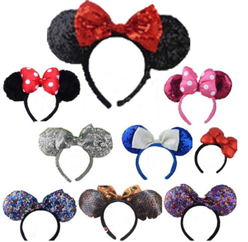 disney parks minnie mouse ears halloween headband christmas party headwear hot