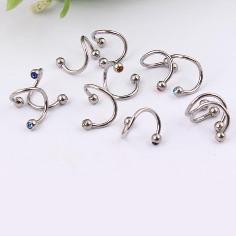 1 paire 16g spirale piercing cartilage arcade gemme h lix studs boucle d 39 oreille ebay. Black Bedroom Furniture Sets. Home Design Ideas