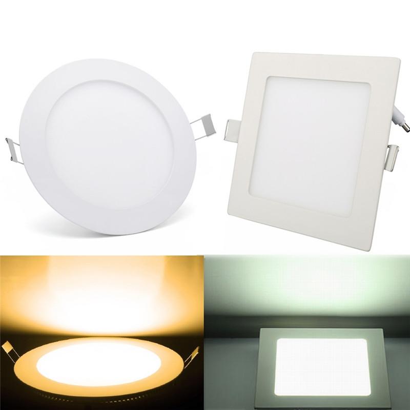 5x ultraslim led panel leuchte einbaustrahler. Black Bedroom Furniture Sets. Home Design Ideas