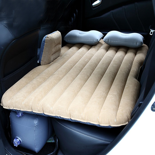 Car Air Bed Inflatable Mattress Back Seat Cushion Two Pillows For