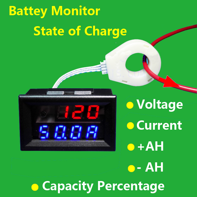 600 Amp Battery Charging System Monitor : Battery monitor v a voltage current remaining
