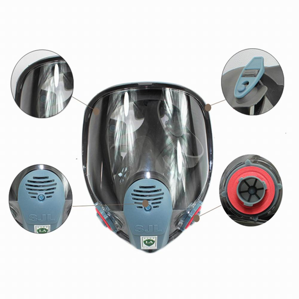 Sjl Gasproof Mask Full Face Facepiece Respirator Brand New