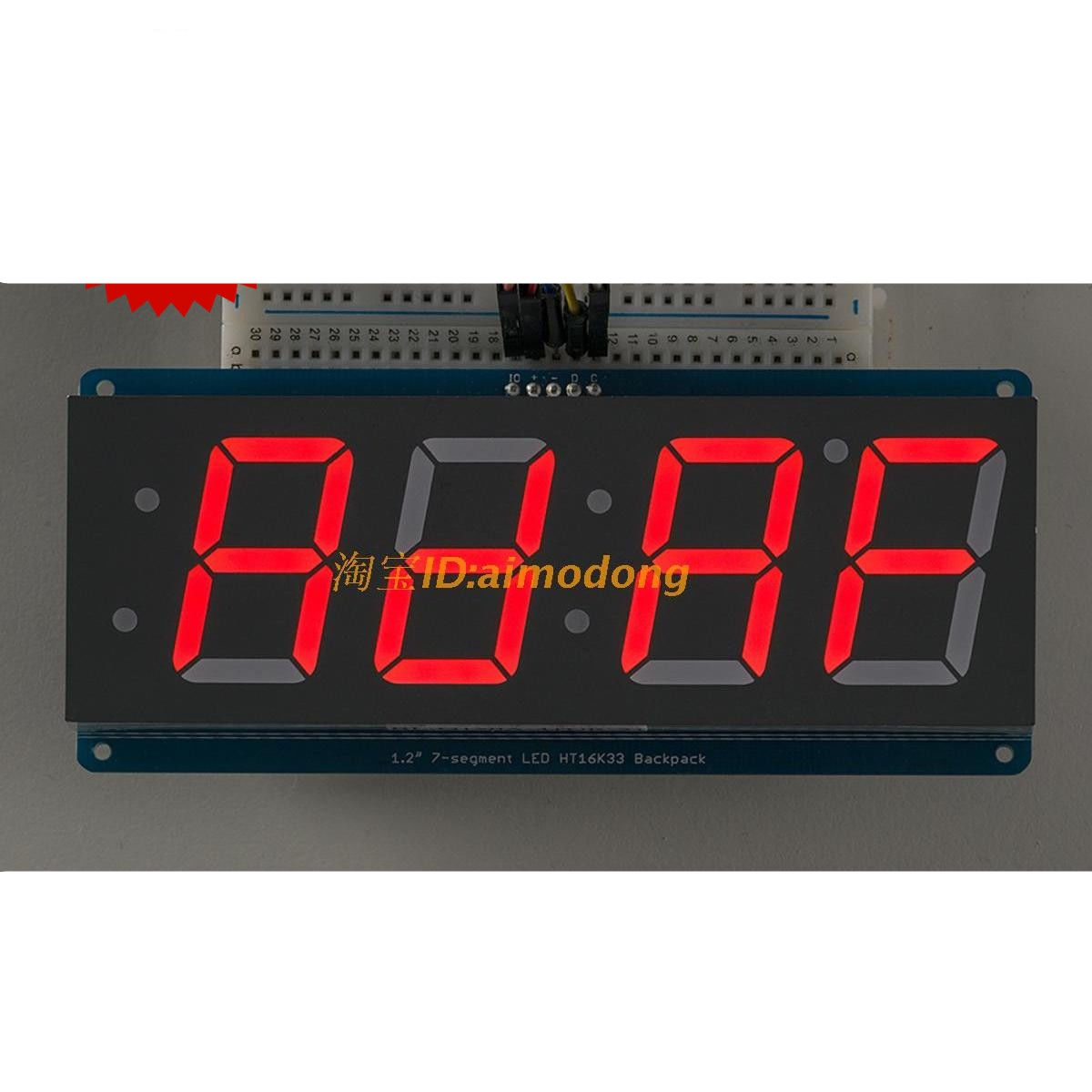New red digit seven segment led display iic for