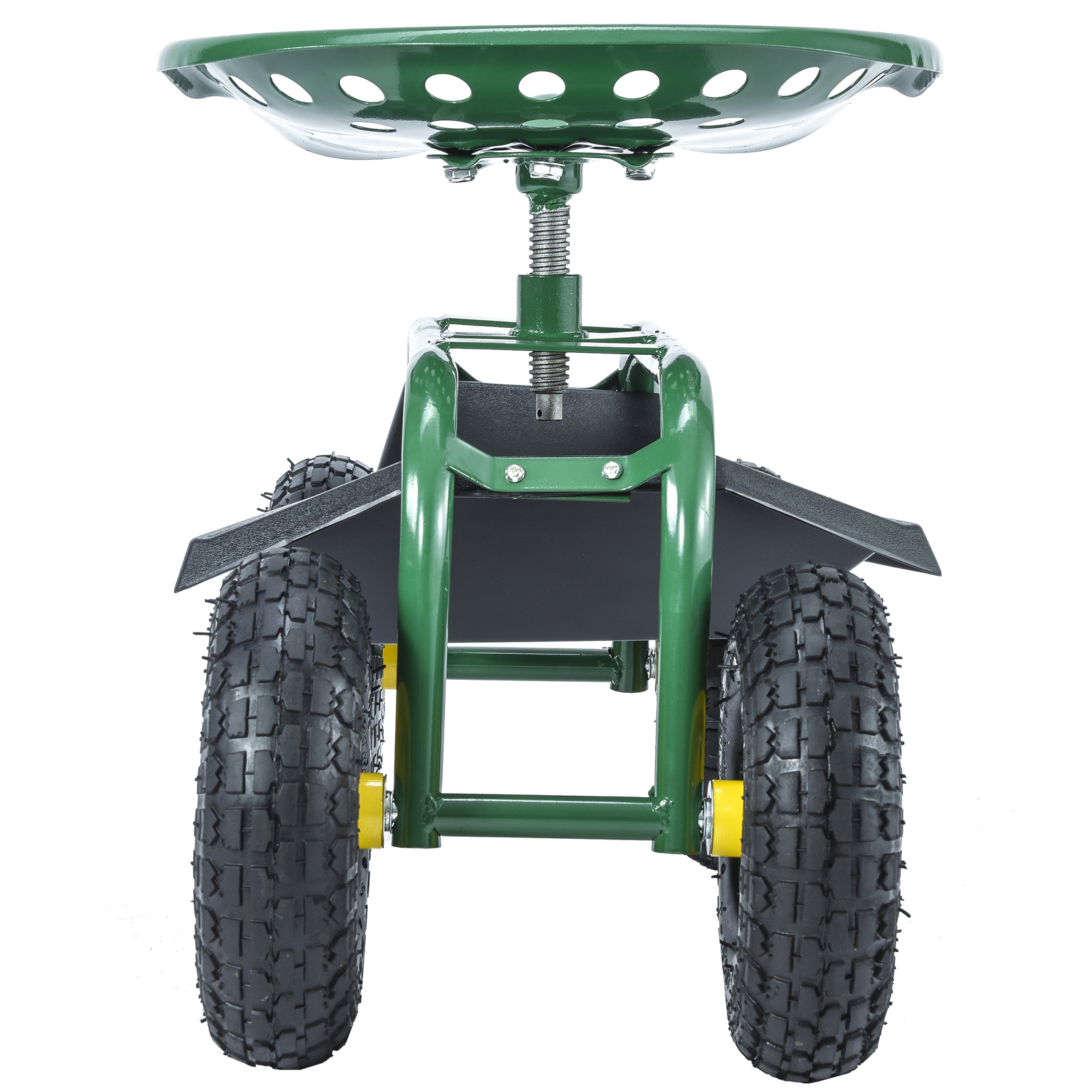 Delicieux Green Rolling Garden Cart Work Seat W/Heavy Duty Tool Tray Planting  Gardening