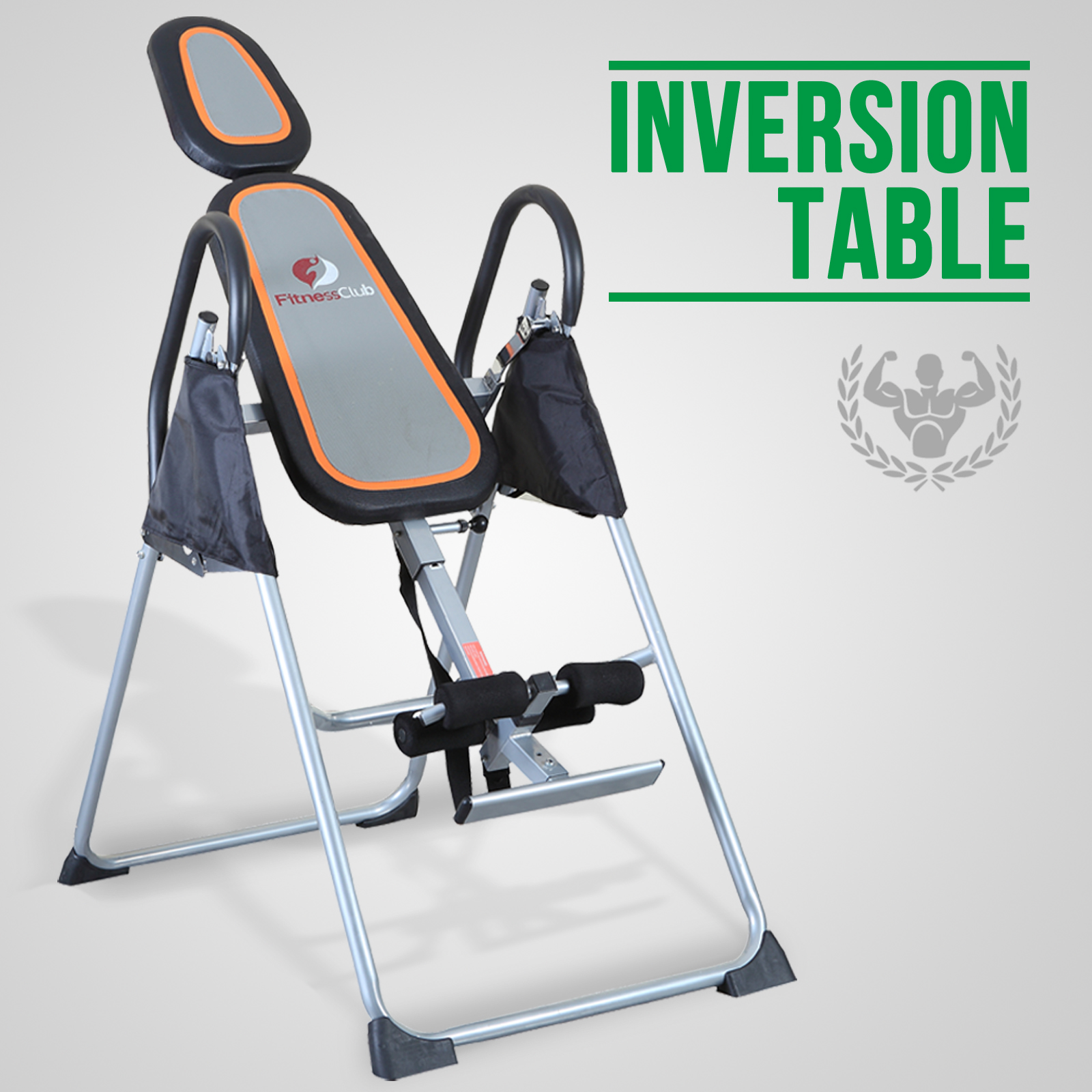 Fitness inversion table foldable premium back neck relief for Table inversion