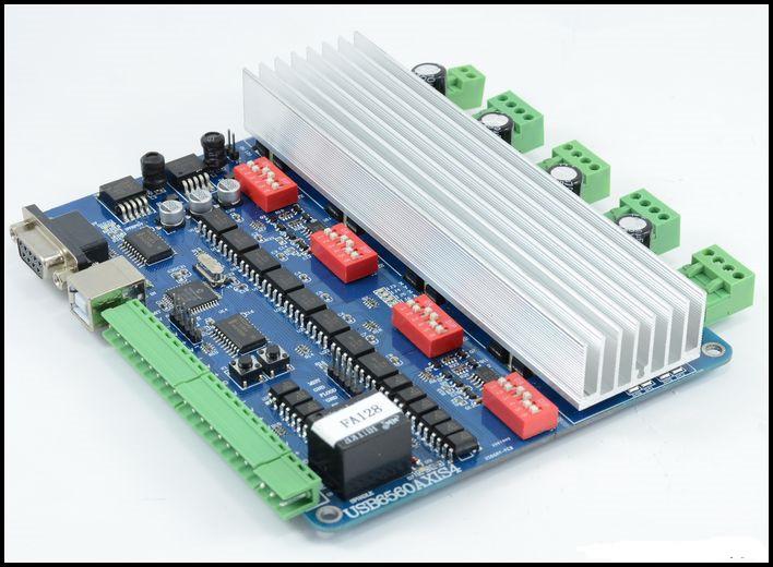 4 axis tb6560 usb cnc nema23 3 0a stepper motor usb driver for Usb stepper motor controller