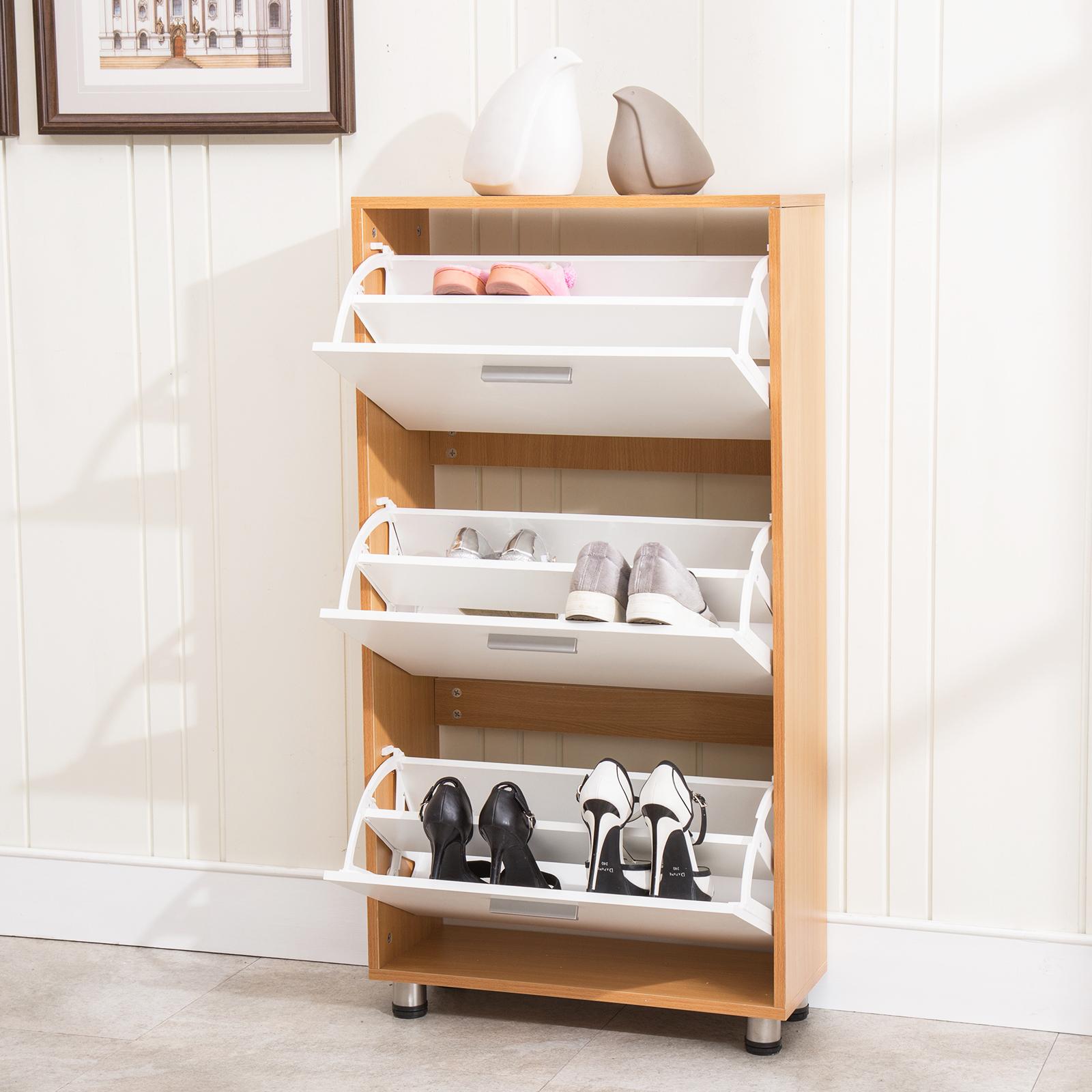 Mudroom Organizers Storage : Drawer shoe storage pair organizer cabinet entryway
