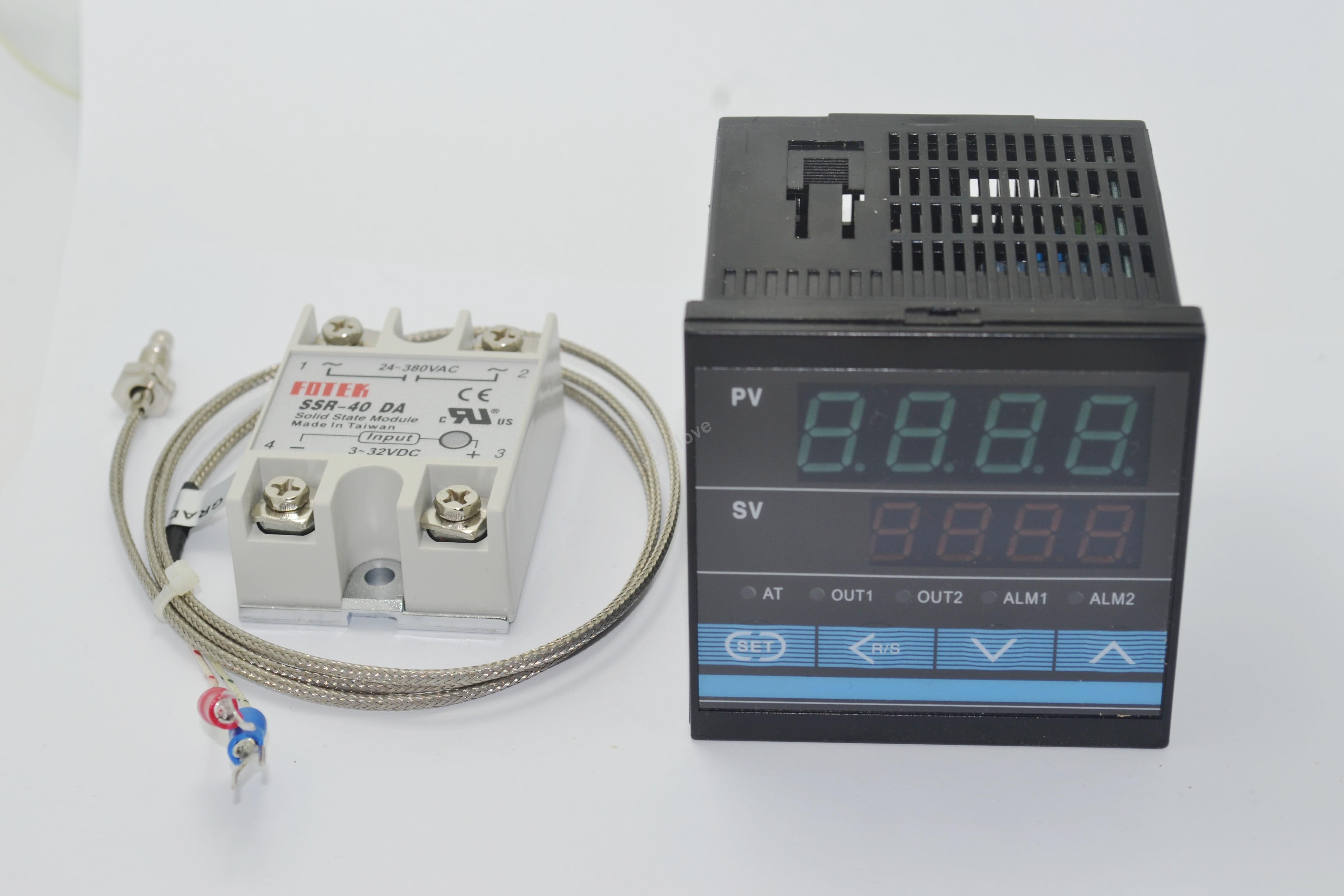 40A SSR K Thermocouple Sensor Digital PID Thermostat Temperature Controller