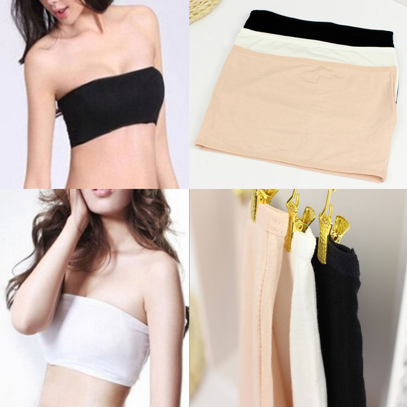 c8e2f54116db8 Hot 1 Piece Sexy Women Girl Bandeau Tube Top Seamless Strapless Bra Bralette  New