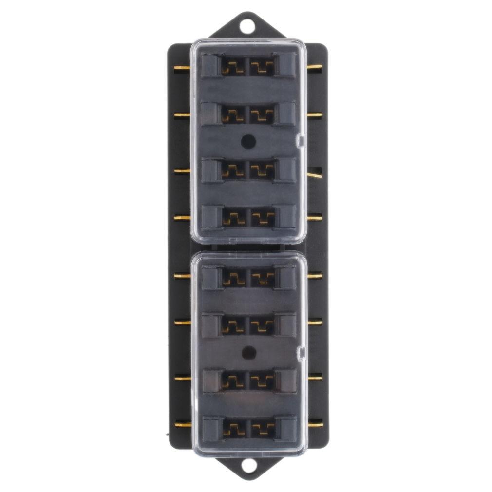 Fulseholder Mini 8 Way Blade Fuse Holder Block Box Audio Electronics 08 Part 12v
