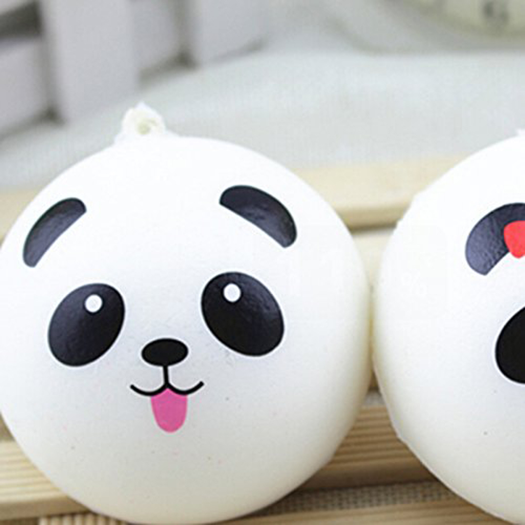 Squishy Jumbo Panda 10 Cm : MS 10cm 2Pcs/Set Cute Kawaii Jumbo Squishy Panda Bread Bun Fun Phone Charm Toy eBay