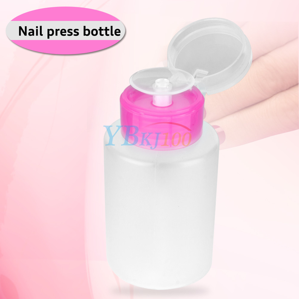 Nail Polish Remover On Car: Empty Clear Nail Art Pump Dispenser Acetone Polish Remover