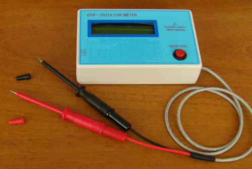 In Circuit Capacitor Tester : New capacitor esr dcr tester in circuit capacitance meter