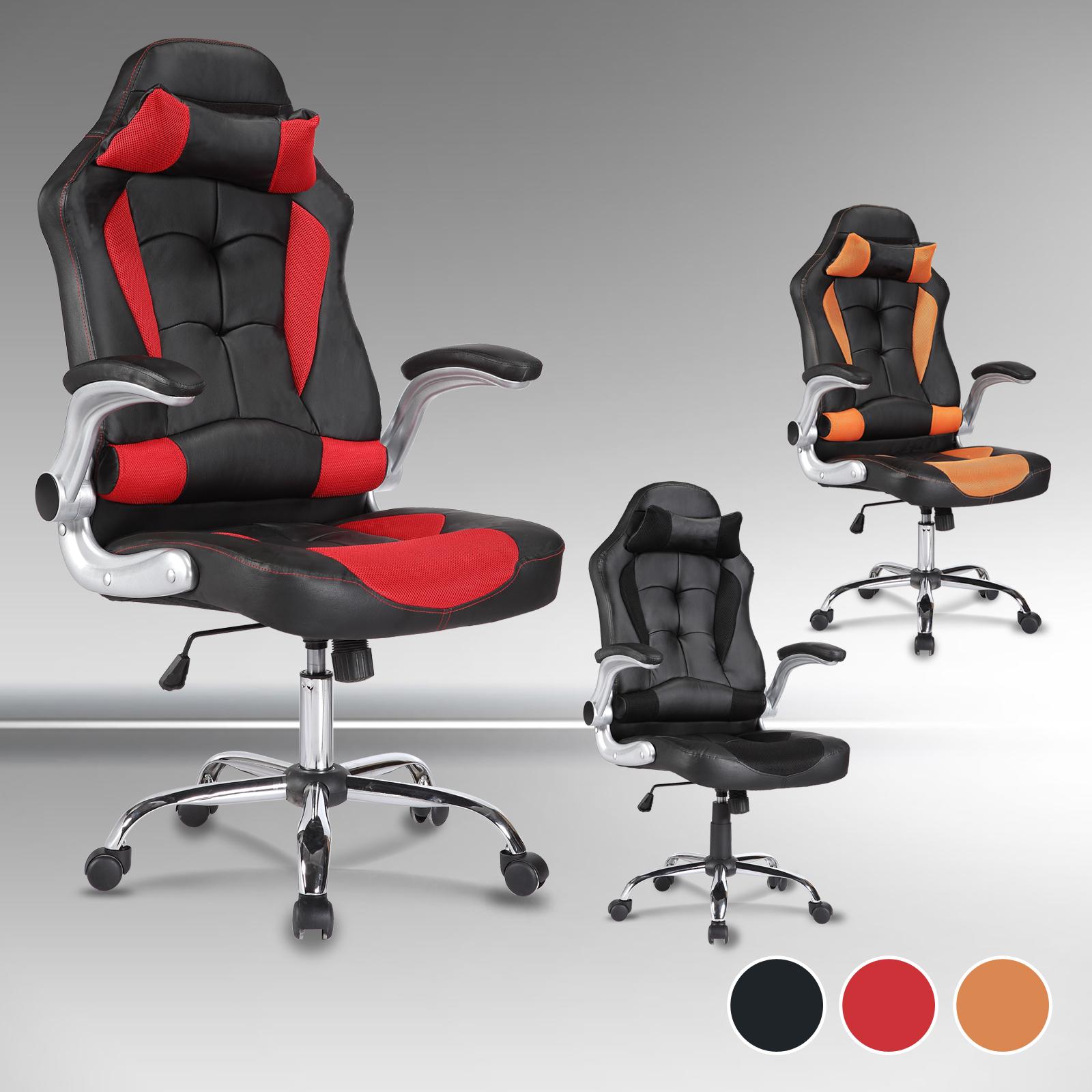 Modern gaming stuhl racing stuh b rostuhl chefsessel drehstuhl computer stuhl ebay - Gaming stuhl ebay ...