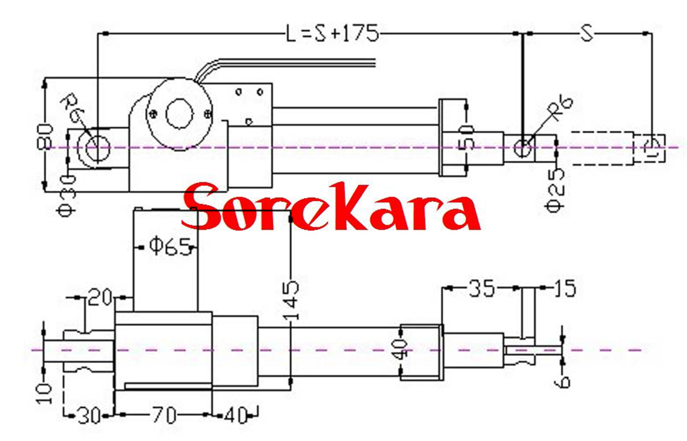 6000n Dc12 24v Stroke 30 500 Tg 100 Multi Function Linear Actuator Schematic Detail