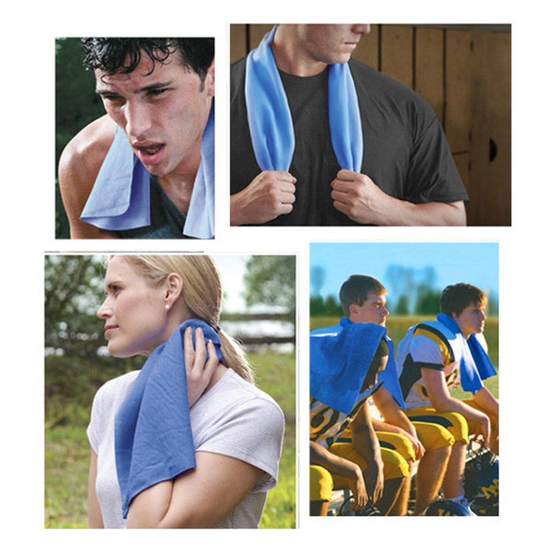 k hl handtuch sport im freien ice cold k hlen handtuch gym golf reusable mj 01 724500868426 ebay. Black Bedroom Furniture Sets. Home Design Ideas