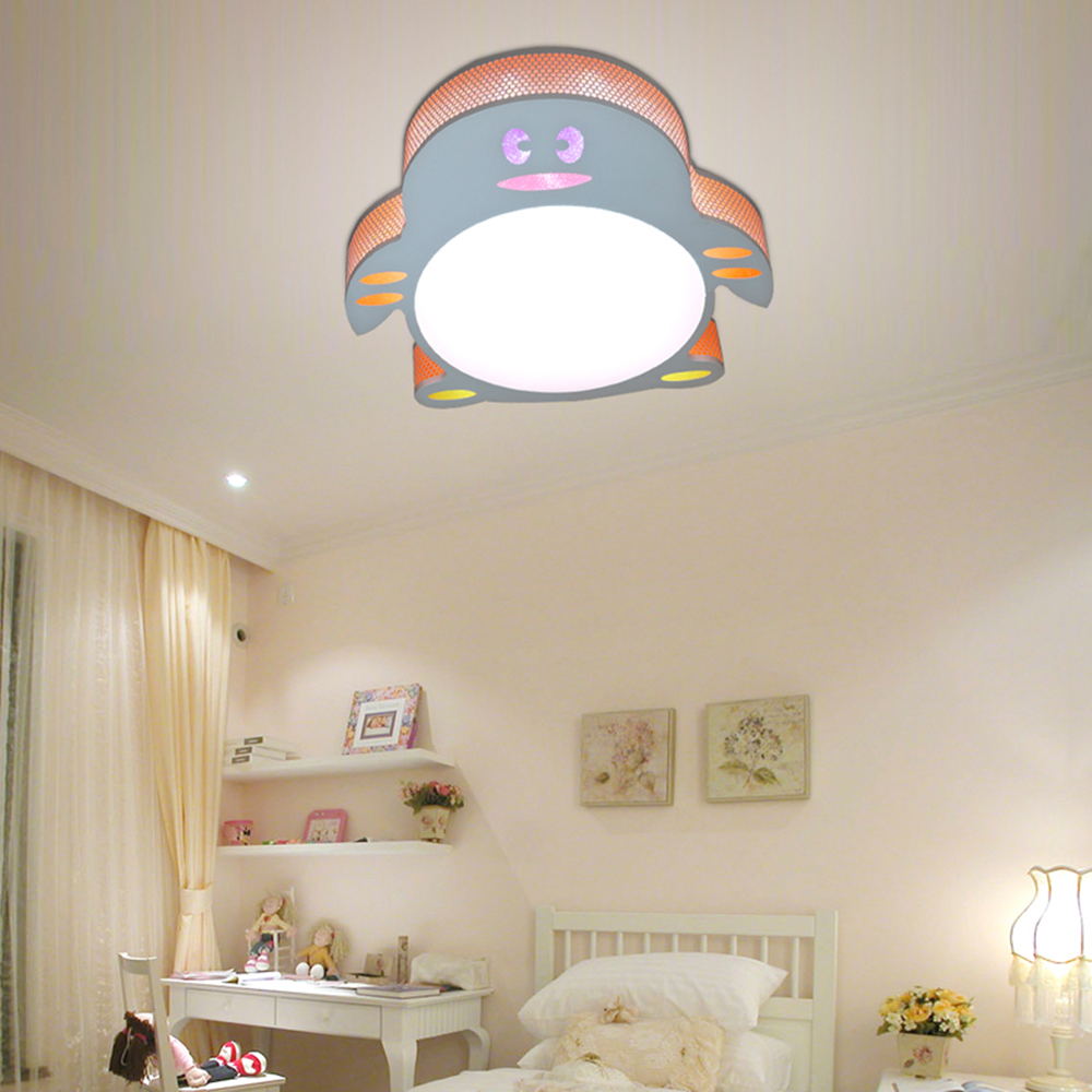 led deckenlampe kinderzimmer 24w warmwei deckenleuchte kinderlampe pinguin ebay. Black Bedroom Furniture Sets. Home Design Ideas