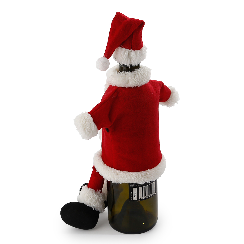 Santa Claus Decorations Uk: XMAS SANTA CLAUS WINE BOTTLE COVER BAG CHRISTMAS DINNER