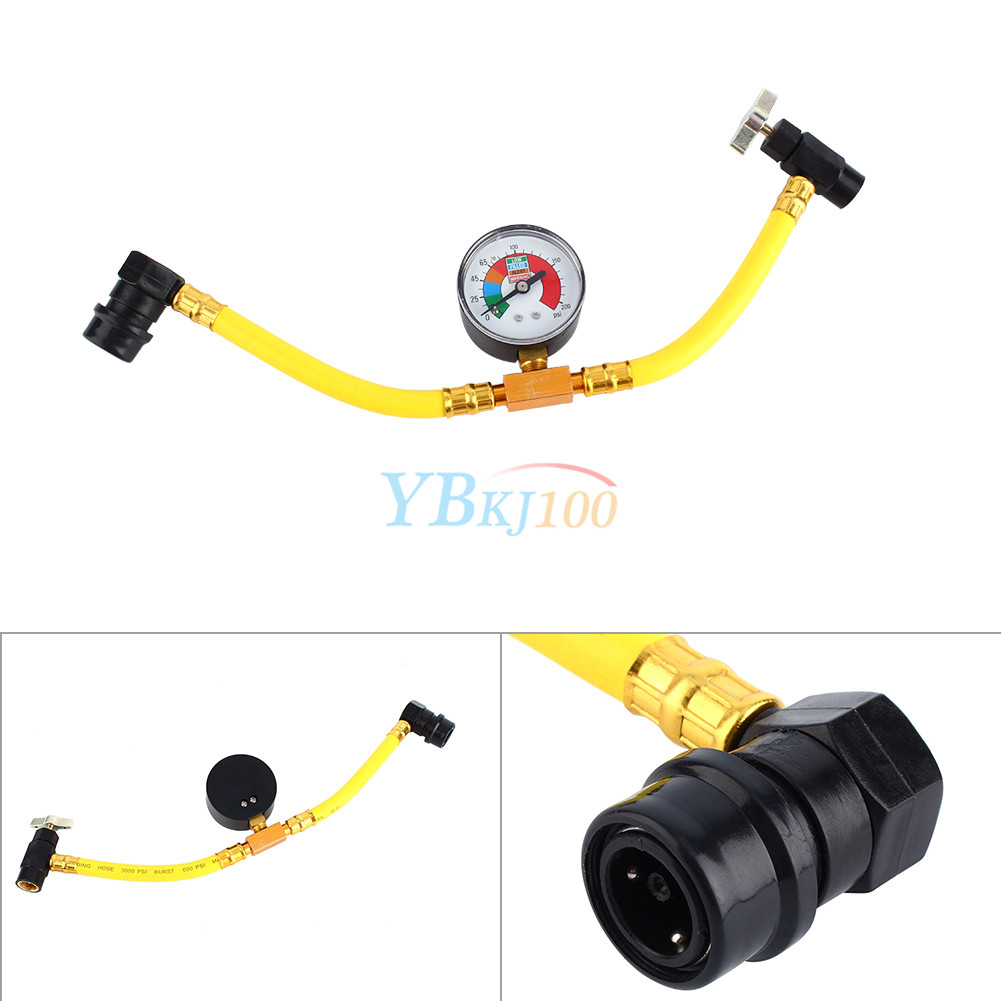 Vehicle Air Conditioning : R a refrigerant recharge measuring hose gauge for car