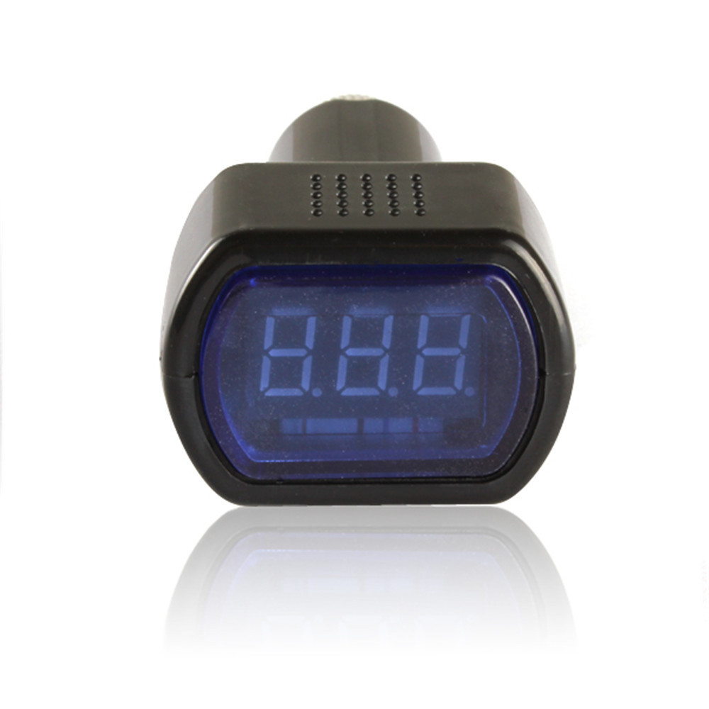 Car Battery Voltage Meter : V mini car voltage meter voltmeter battery