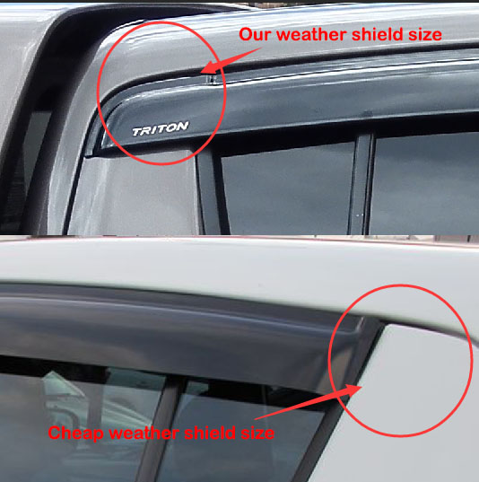 Injection Weather Shield Visors Weathershield For Toyota
