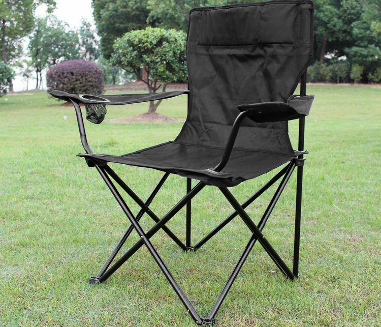 noir chaise camping housse pliante fauteuil pliable siege de plage tissu oxford ebay. Black Bedroom Furniture Sets. Home Design Ideas