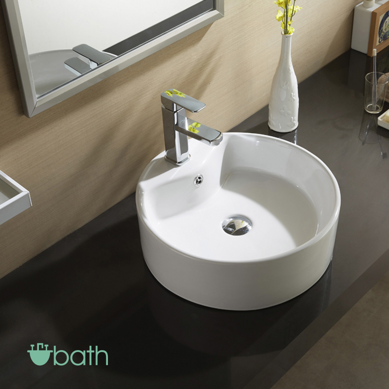 basin sink bathroom white porcelain ceramic vessel countertop basin sink 10186