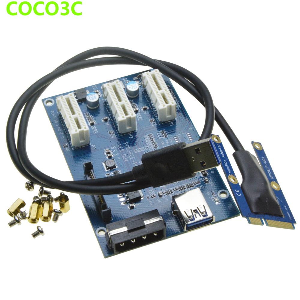 Mini Pcie 1 To 3 Pci Express 1x Slot Adapter Port