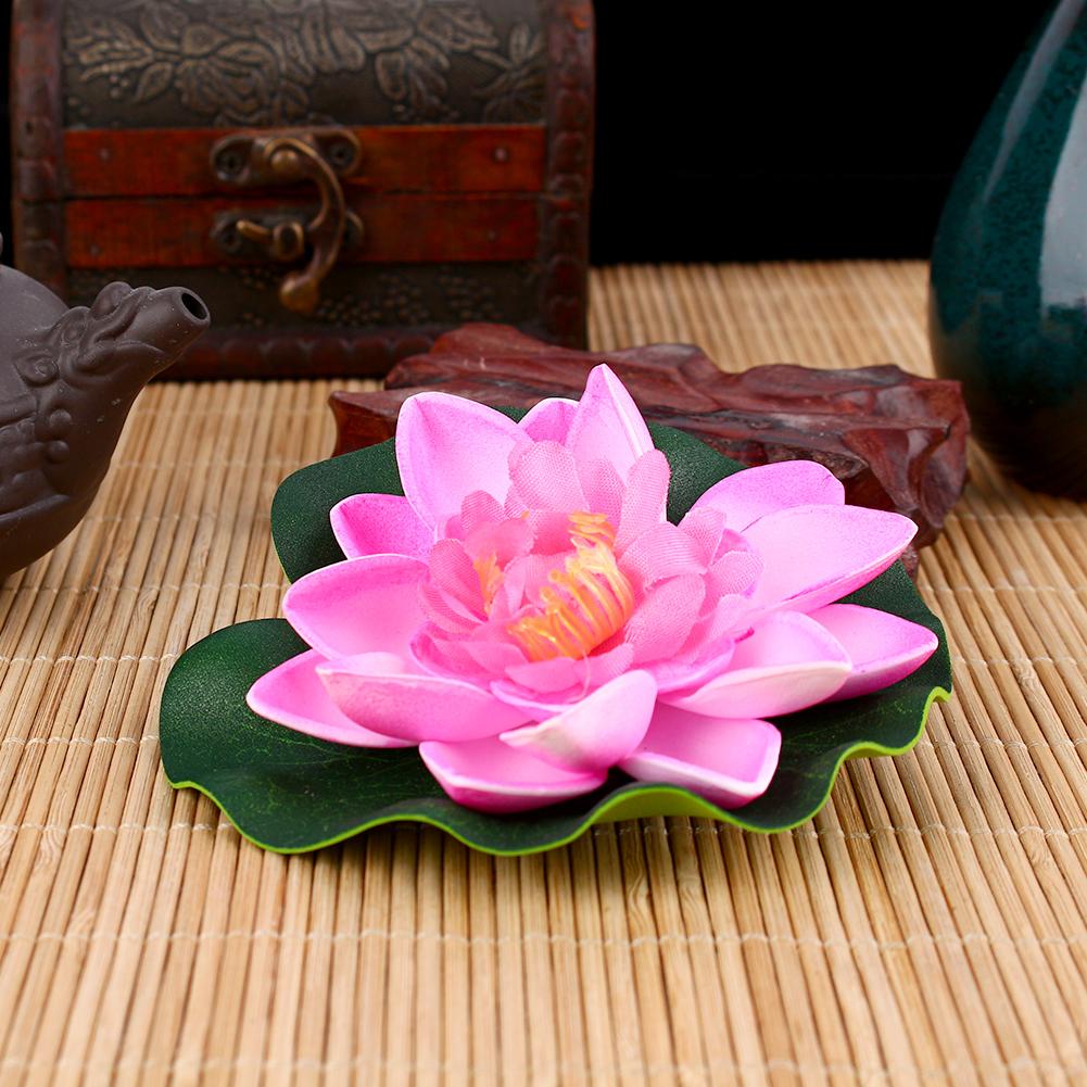 Artificial Fake Lotus Water Lily Floating Flower Garden
