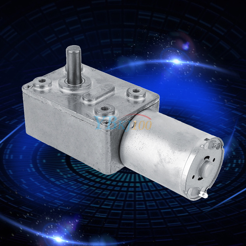 Electric high torque turbo worm gearbox geared motor dc for Gearbox for electric motor