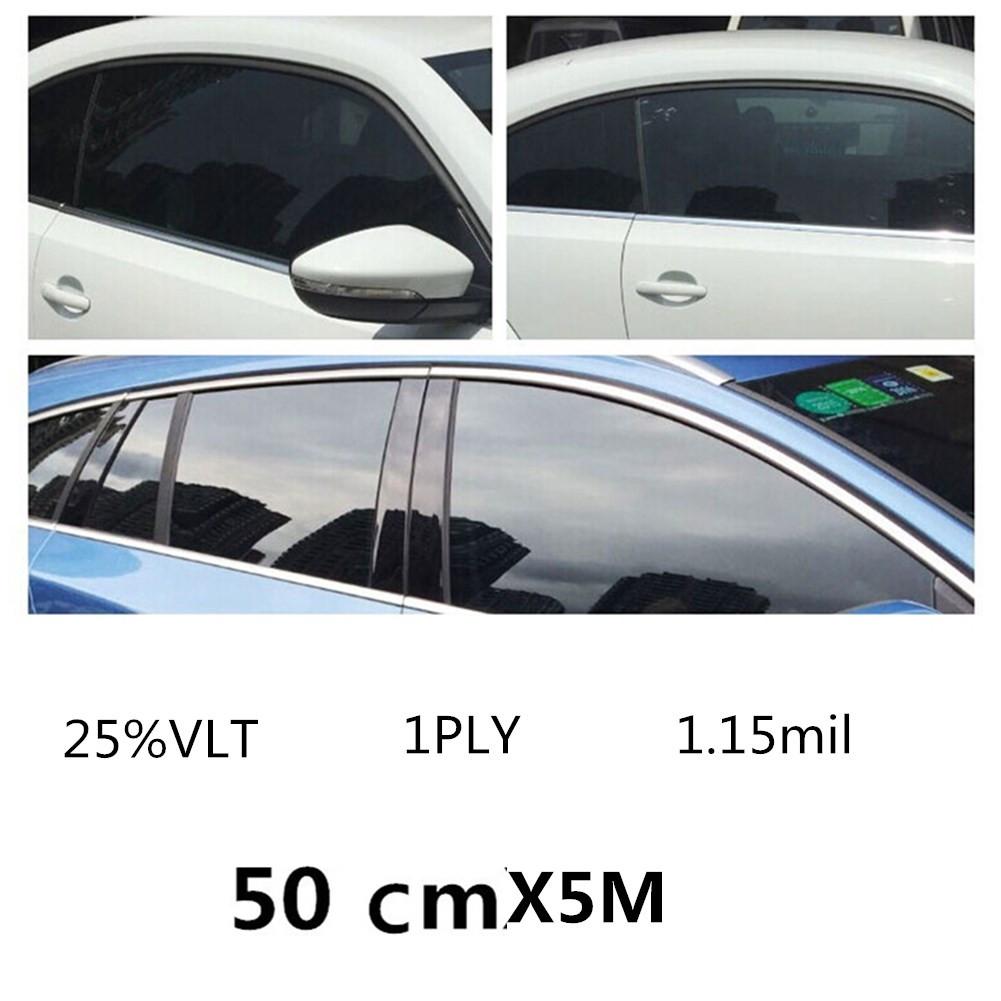 25 vlt black car home glass window tint film and shade vinyl roll 50cmx500cma ebay. Black Bedroom Furniture Sets. Home Design Ideas