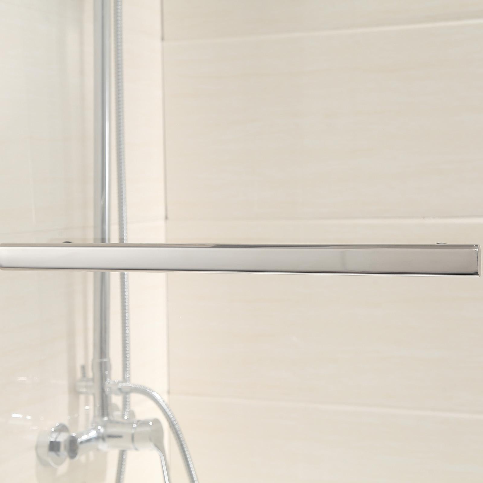800x1400mm 180 Pivot Shower Screen Bath Door Panel Radius Frameless Glass Over