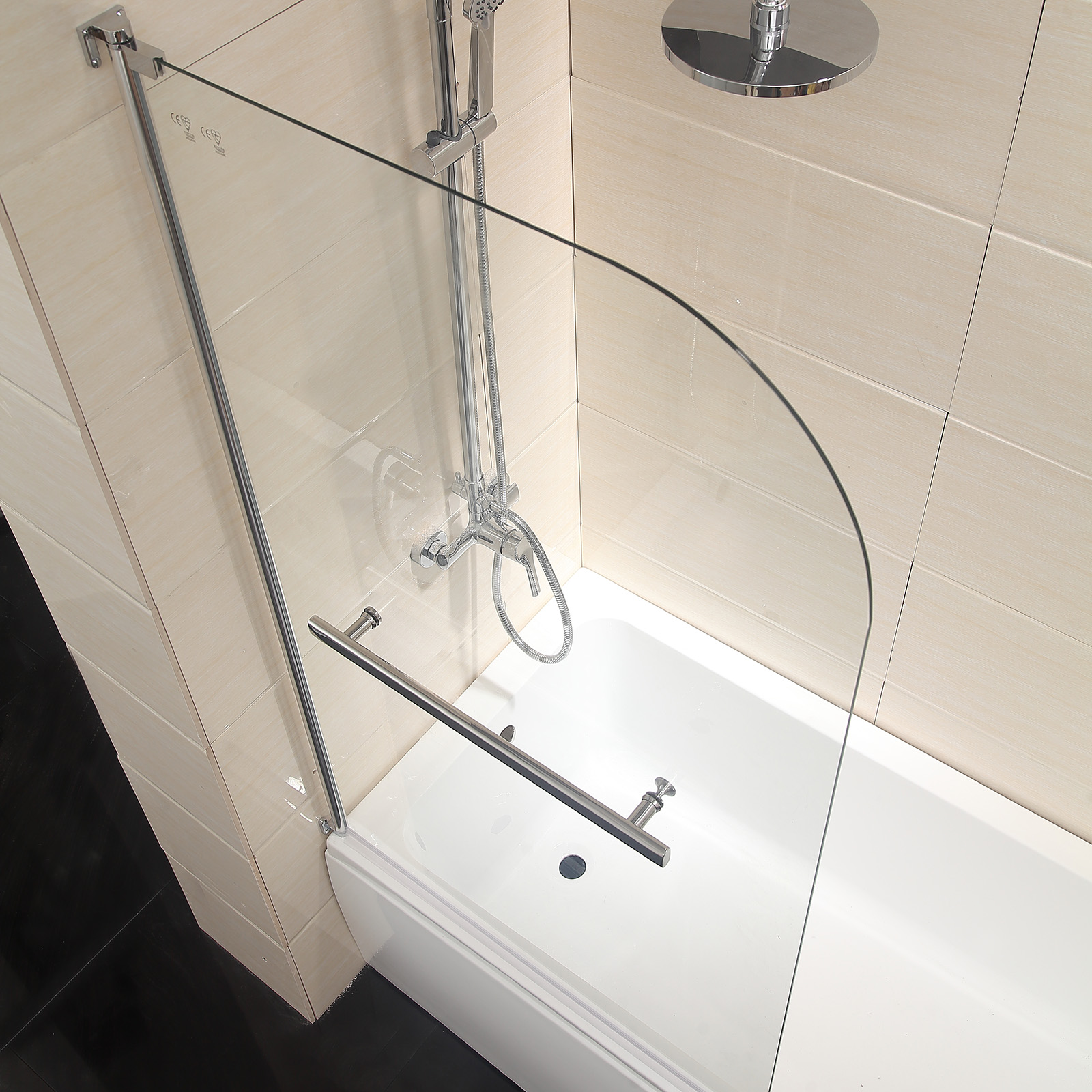800x1400mm 180 pivot shower screen bath door panel radius 800x1400mm 180 pivot shower screen bath door panel