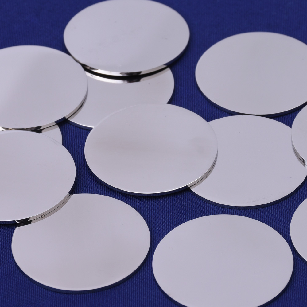 10 tibetara stainless steel stamping blank tags diy round for Glass discs for crafts
