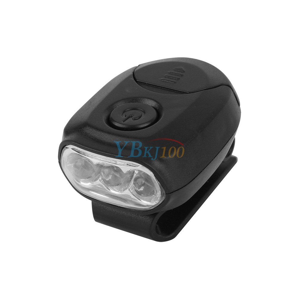 3 Led Clip On Cap Hat Brim Head Light Lamp Flashlight For
