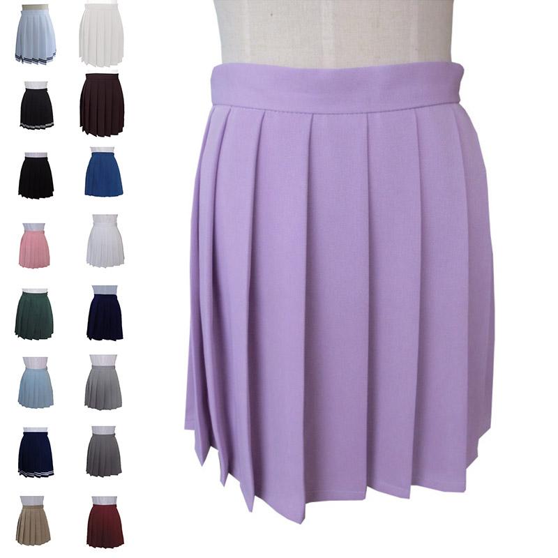 Harajuku High Waist Pleated Skirt Dresses Japanese School