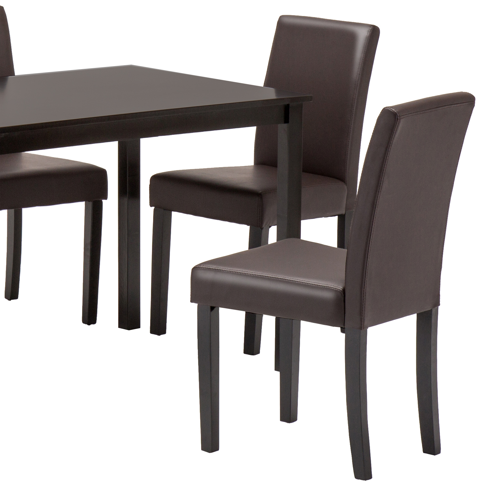 5 Piece Wood White Dining Table Set 4 Chairs Room Kitchen: 5 Piece Wood Dining Table Set 4 Chairs Kitchen Dinette