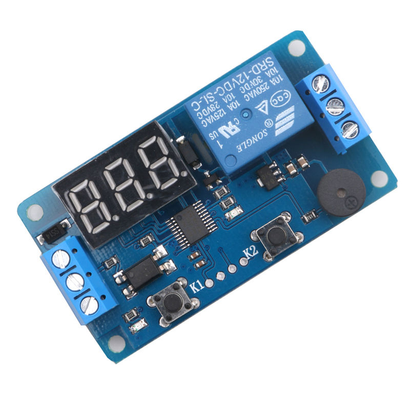 12v Display Led Timer Relay Programmable Board Delay