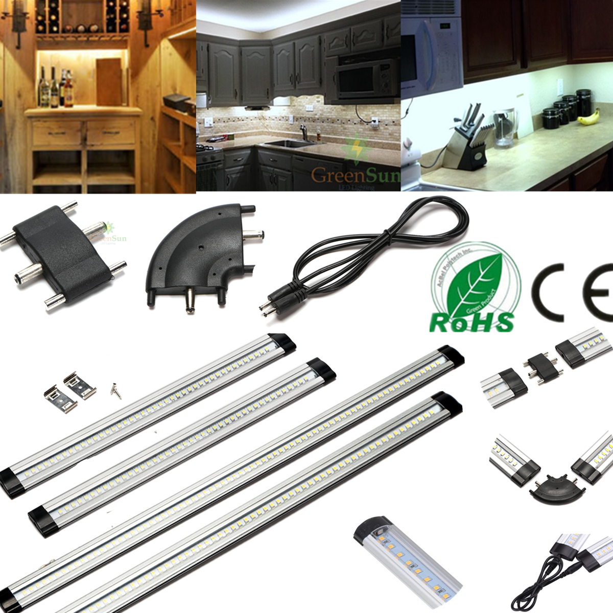 LED Under Cabinet Cupboard Light/Power Adapter/Connector