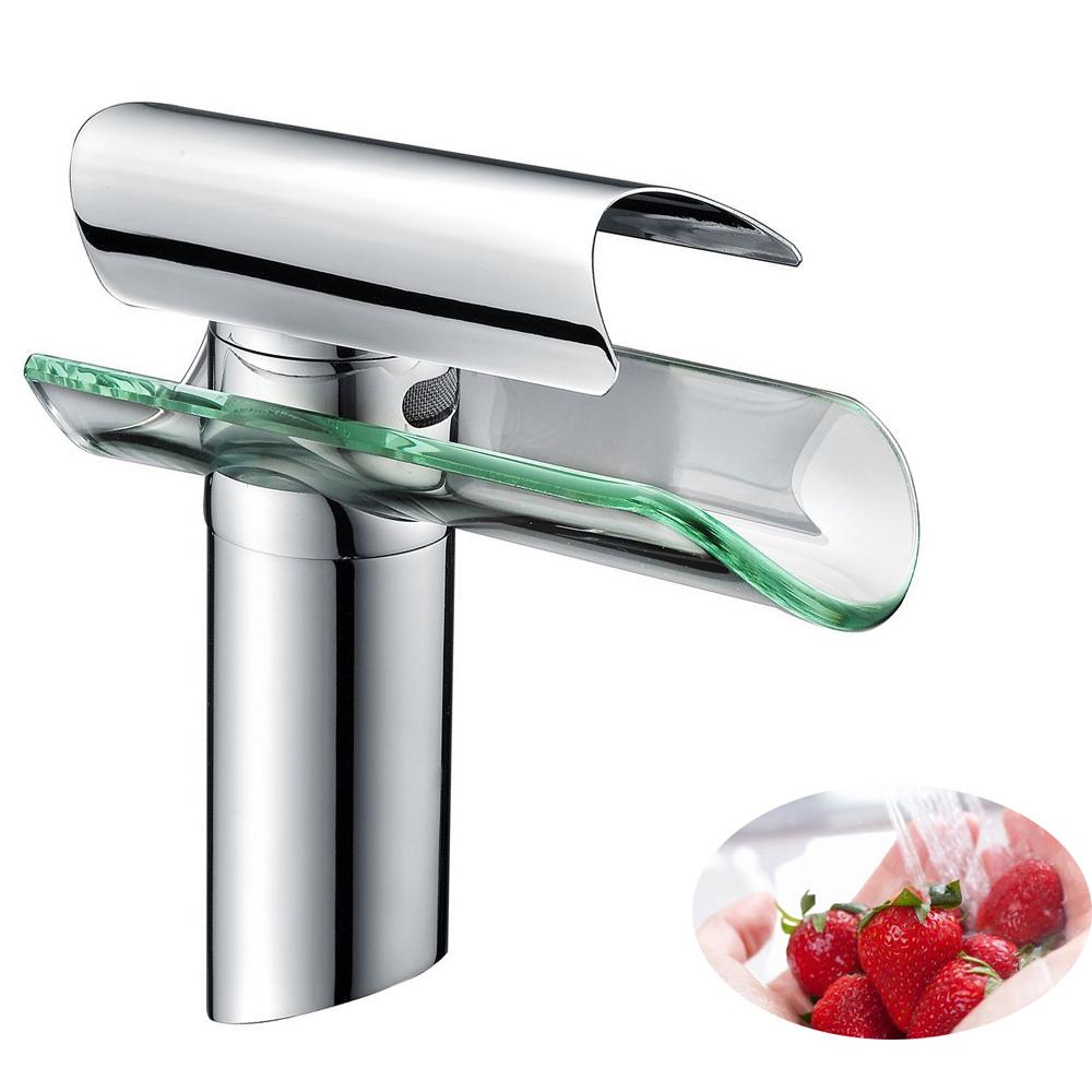Lavandino cascata rubinetto di cromato vetro rubinetto - Rubinetto bagno cascata ...