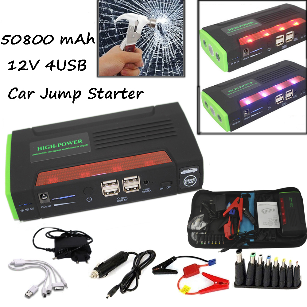 68800mah jump starter emergency car auto power bank. Black Bedroom Furniture Sets. Home Design Ideas