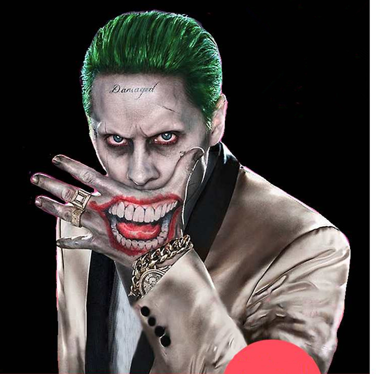 suicide squad joker costume tattoo kit makeup dc comics