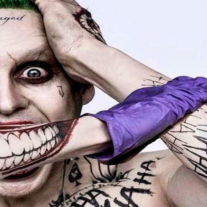 Joker Hand Tattoos: Suicide Squad Joker Costume Tattoo Kit Makeup Halloween