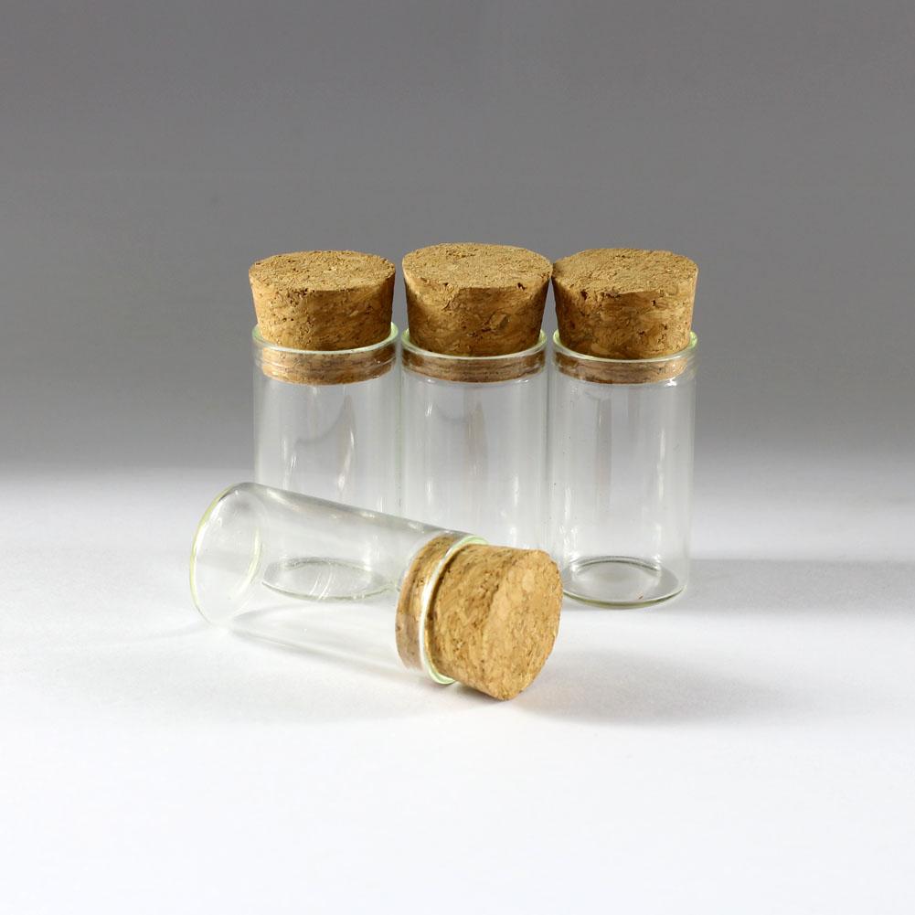 50 un Botellas de Vidrio Transparente Viales de Muestra Vacíos con Corcho Frasco Pequeño Botella de 5 Ml