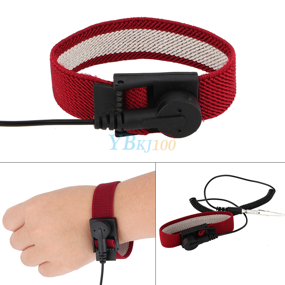 Anti Static Electronics : Anti static esd adjustable wrist strap discharge band