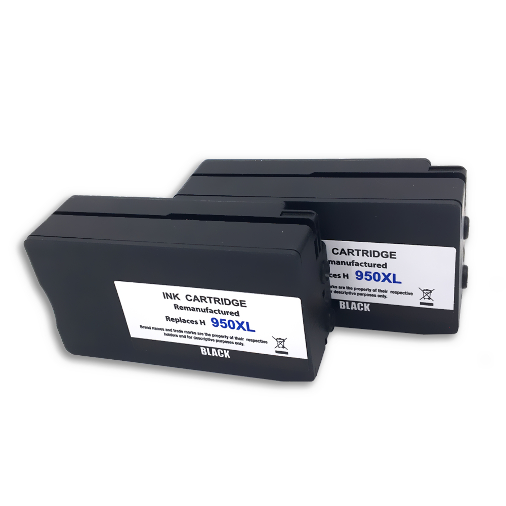 2 pack 950 950xl black ink cartridge for hp officejet pro 251dw 8100 8600 8600 ebay. Black Bedroom Furniture Sets. Home Design Ideas