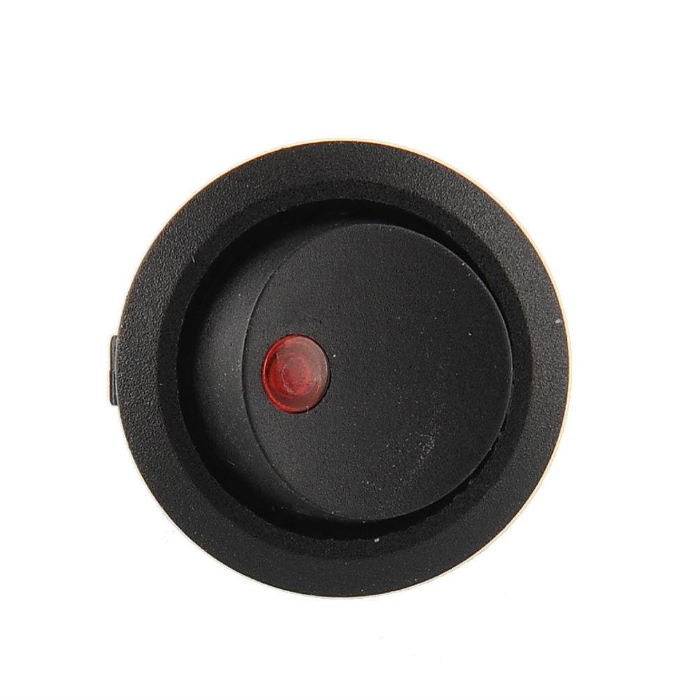 20pcs led dot light car auto boat round rocker on off toggle switch red 12v. Black Bedroom Furniture Sets. Home Design Ideas