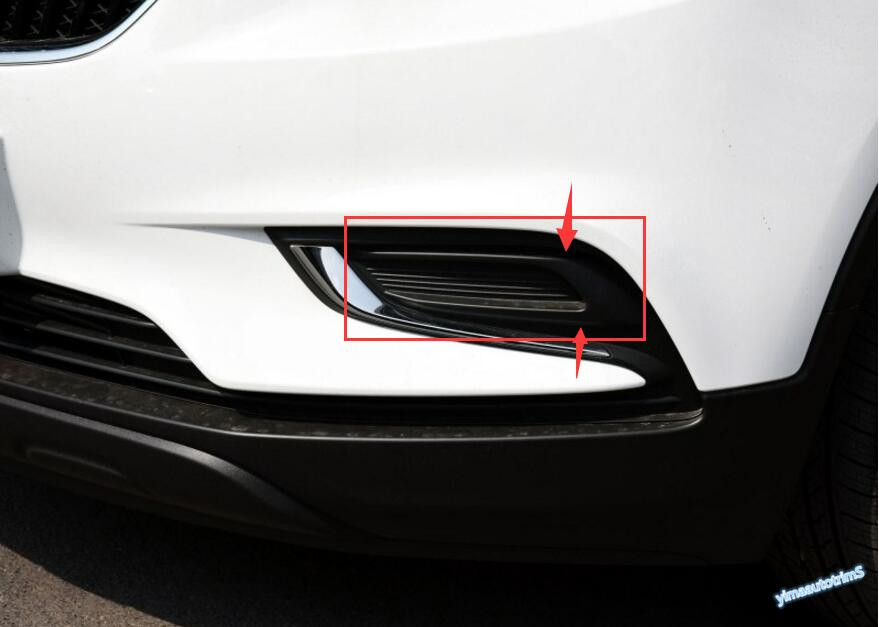 Chrome Front Fog Lights Lamp Cover Trim 2pcs For Buick
