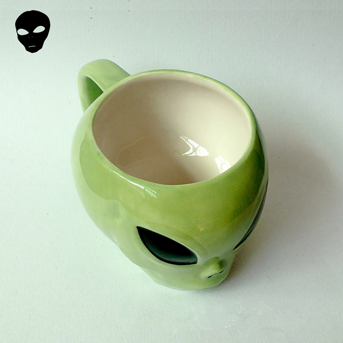 Cool Mysterious 3d Aliens Ceramic Cup Ufo Conspicuous